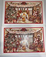 2 Vintage Unused Plus Mark American Greetings Christmas Cards Stockings