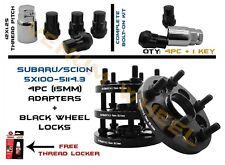 4pc 5x100 TO 5X114.3 CONVERSION ADAPTER INCLUDES 4 WHEEL LOCKS 12X1.25 + KEY