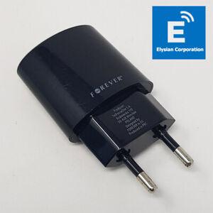 Forever 5V 2100mA - EU 2 Pin USB Charger Supply - Black - Grade C - Fast P&P