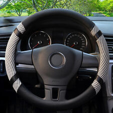 Grey 38cm / 15'' Microfiber Leather Ice Silk Steering Wheel Cover Cooling