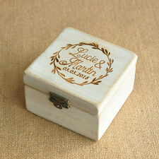 Personalized Rustic Bearer Pillow Box Wooden Wedding Ring Box Engagement Box