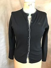 Vintage GIVENCHY Sport JET BLACK CARDIGAN SWEATER 34 S/M
