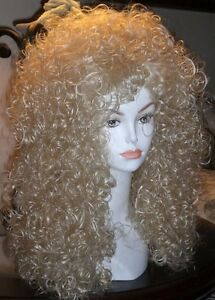 "28"" long Wig w/ Tight Spiral Curls Victorian, Cher, Merida, Lioness, Maui"