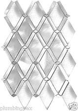 Diamond Silver Aluminum Kitchen Bath Wall Mosaic Backsplash Tiles- 11 Per Box