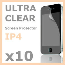 10 x Ultra Crystal Clear Screen Protector LCD Guard Film for Apple iPhone 4S 4 4