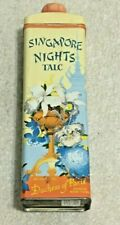 Vintage Singapore Nights  Talc Tin Can Container, Talcum, Vanity Display