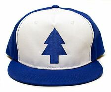 Embroidered Dipper Gravity Falls Cloth New Flat Bill BLUE PINE TREE Hat Cap TV