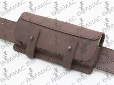 New Leather Shotgun Cartridge Holder Pouch Belt Ammo 8 Shells.Made in Europe.