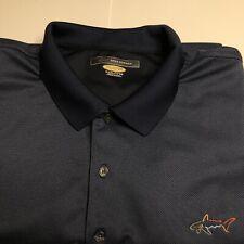 Greg Norman Golf Performance Polo, Men's XXXL, Navy Blue, Polyester