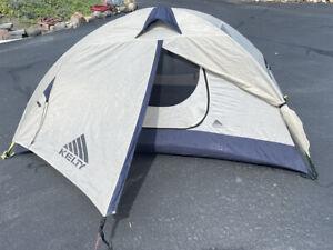 KELTY Gunnison 2 Camping Backpacking Tent Blue/Gray w/Rain Fly, Footprint & Bag