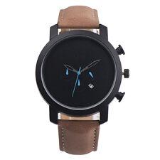 Fashion Men Sport Watch Retro Leather Date Day Analog Quartz Luxury Wrist Watch