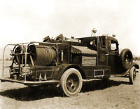 "1936 US Forest Service Fire Truck, Montana Vintage Old Photo 8.5"" x 11"" Reprint"