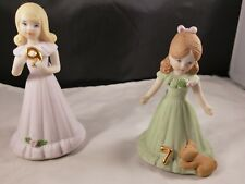 """2 Vintage Enesco """"Growing Up"""" Birthday Girls Age 7 and 9"""