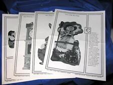 1988 Vtg Diy Woodworking 4 Patterns, Cherry Tree Toys, Nursery Rhyme, Clocks