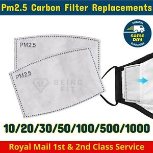 PM2.5 FILTER Replacement for Washable Reusable Face Mask Activated Carbon Bulk