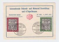 """Bund - Mi. 139 & 140 - """"700 Jahre Marienkirche Lübeck"""" auf dekorativer Postkarte"""