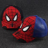 Kids Boys Spiderman Sport Baseball Cap Casual Summer Snapback Adjustable Sun Hat