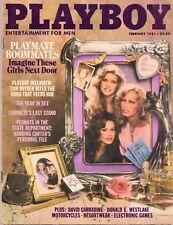 PLAYBOY FEBRUARY 1981 Candy Loving Sondra Theodore Terri Welles Vicki LasseterRC