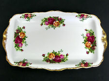 OLD COUNTRY ROSES SANDWICH / SERVING TRAY, GC, 1993-2002, ENGLAND ROYAL ALBERT