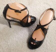 Black Patent Peep Toe Heel. Sz 10