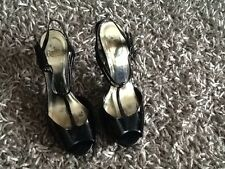 Beautiful Black Patent Sandals Size 4 From Faith