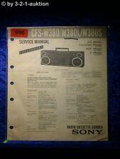 Sony Service Manual CFS W380 / W380L / W380S Cassette Recorder (#0996)