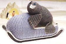 Crochet Pattern ~ SEAL SLED Stuffed Animal ~ Instructions