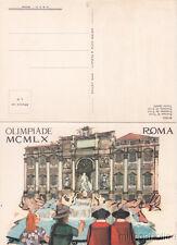 * ROMA - XVII Olimpiade MCMLX 1960 - Fontana di Trevi e Stadio Olimpico