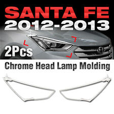 Chrome Head Light Lamp Garnish Molding Trim for HYUNDAI 2013-2018 Santa Fe DM