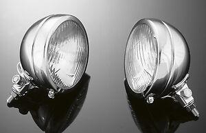CHROME HALOGEN SPOTLIGHTS (PAIR) Motorcycle/Bobber/Harley/Custom: 68-133E x2