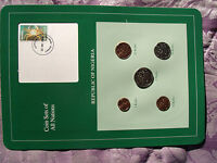 Coin Sets of All Nations Nigeria w/card 1 Naira, 50,25,10,1 Kobo 1991 UNC SCARCE