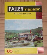 Faller AMS ---  Faller Magazin 65, Juli 1968, Sprache Niederländisch