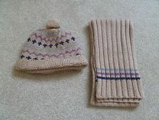 Little white company hat & scarf set.