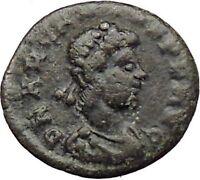 Arcadius 383AD Ancient Roman Coin Victory Nike Chi-Rho Christ Monogram  i29821