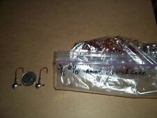 3/16oz #1/0 ROUND HEAD TAPERED BARB LEAD HEAD JIG EAGLE CLAW - RED 100ct