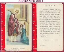 1034 SANTINO HOLY CARD S. BIAGIO VESCOVO ED G MI ED. G MI. 27 LOGO C MEDIA CONS.