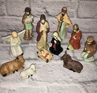 Vintage Artmark 11 Piece Porcelain Nativity Set Christmas 1996