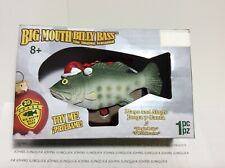 "BIG MOUTH BILLY BASS ORNAMENT New in Box Plays and Sings 2 Songs ""Jingle Blls"""