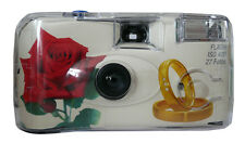 10x allMedia Hochzeitskamera Einwegkamera ROSE RINGE Hochzeit 27 Aufnahmen Blitz