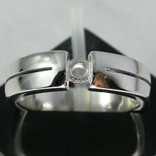 Pretty~Sterling Silver925 Ring Semi Mount Ring Setting Special!! 5 (US)