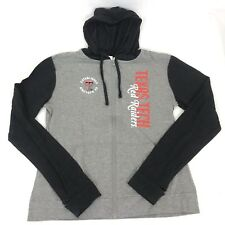 Texas Tech Red Raiders College NCAA Womens Full Zip Hooded Sweater Gray SZ L S