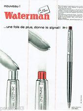 PUBLICITE ADVERTISING 115  1964   le  stylo bille saphir Waterman