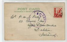 SPAIN: 1937 Censored postcard to Ireland (C47355)