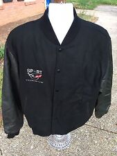 New Without Tags Corvette New Zlander Wool/Leather Jacket, Black, Size L.
