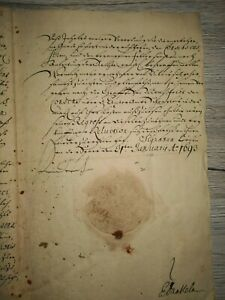 Altes original Dokument   seine Fürstliche  Durchlaucht zu Brandenburg 1693