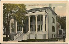 Fairfax Club in Winchester VA Postcard