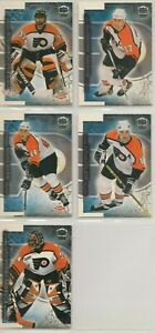 PHILADELPHIA FLYERS ~ 1999-00 PACIFIC DYNAGON ICE Team Lot / Set ~ 5 NHL Cards