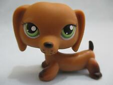 Littlest Pet Shop Dachshund Dog #139 Brown Puppy Daschund LPS 100% Authentic