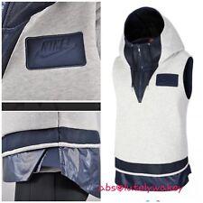 Nike Mujer Mezcla Material Jogging 1/2 Cremallera Chaleco con Capucha Camiseta
