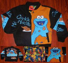 Sesame Street JH design Cookie Monster Design Jacket Sz 5/6 Black Boys Girls